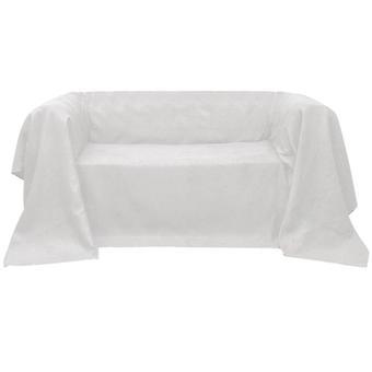 Micro-Suede Sofa Overlay Day Blanket Cream 140 x 210 cm