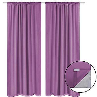 Darkening curtains 2 pcs. double layer 140 x 175 cm Purple