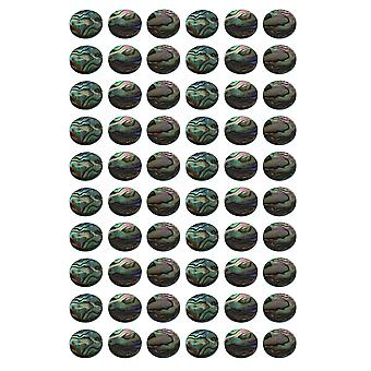 Trumpet Parts Finger Key Buttons Abalone Shell Inlays 13.6mm Pack of 60