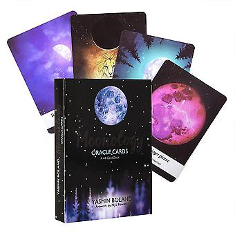 Angielski Moonology Oracle Cards Wytyczne Wróżenie Fate Game Board for Party