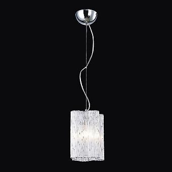 Pendentif suspendu classique Chrome 1 Lumière avec ombre en verre, E27
