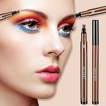 Fork Tip, Waterproof And Long Lasting Eyebrow Pencil