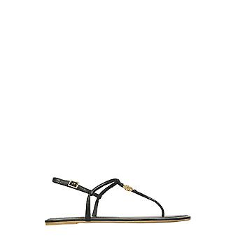 Tory Burch 63407006 Women's Black Leather Flip Flops
