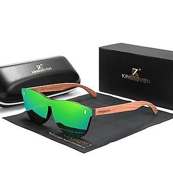 Naturlige Bubinga Wood Solbriller Mænd Polariseret Fashion Solbriller