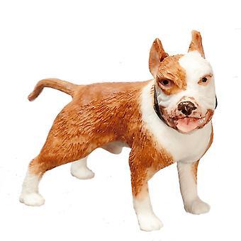 Poppen Huis Russet Brown Boxer Permanent Miniatuur Pet Dog 1:12 Schaal