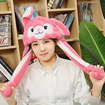 Cartoon Hats, Moving Ears, Cute Rabbit Toy Airbag, Cap, Kids Plush