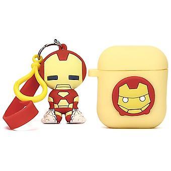 Funda de silicona protectora a prueba de golpes para sus Apple AirPods 1 y 2- Iron Man 1pc