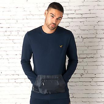 Men's Voi Jeans Browne Crew Sweatshirt in Blue