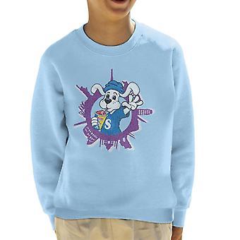 Slush Puppie Distressed World Background Kid's Sweatshirt
