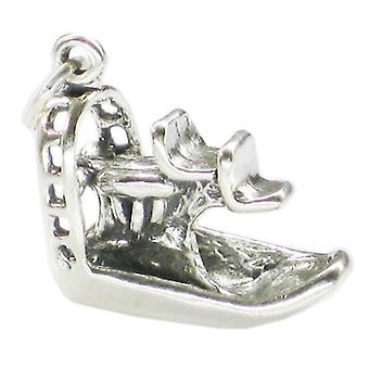 Airboat Sterling Silver Charm .925 X 1 Airboats And Everglades Charms - 2048