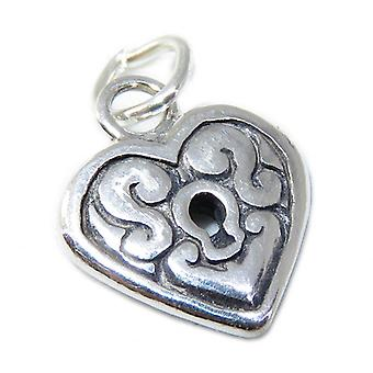 Heart Sterling Silver Charm .925 X 1 Hearts & Love Charms - 8649