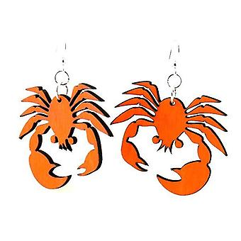 Crab Design, Laser Cut Earrings