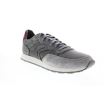 Geox U Vincit  Mens Gray Leather Euro Sneakers Shoes