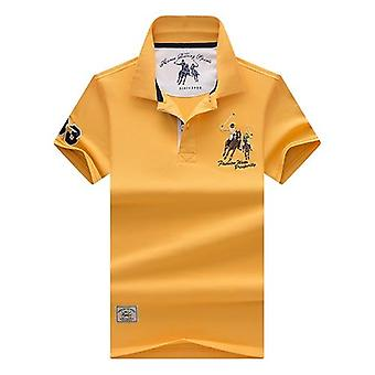 Tops&tees Menăs Polo Shirts, Business 3d Broderie, Turn-down Collar