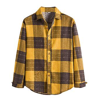 Allthemen Men's Button Down Regular Fit Long Sleeve Plaid Casual Shirts