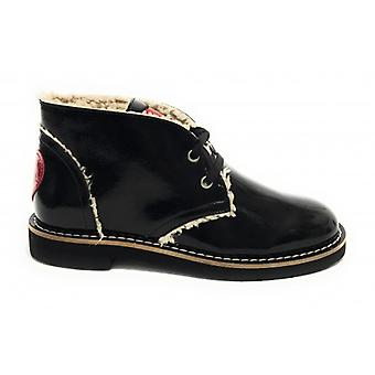 Polish Women's Shoes Love Moschino In Ecopelle Naplak Black/ Eco Shearling D20mo29