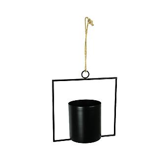 Cool Modern Style Framed Hanging Metal Planter 11 Inches High