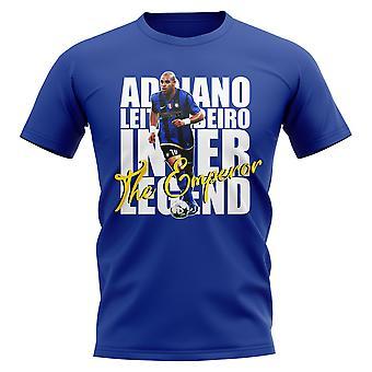 Adriano Inter Milan Spiller T-skjorte (Blå)
