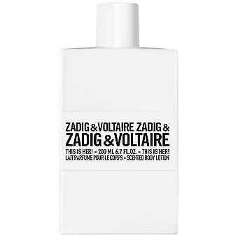 Zadig&Voltaire This Is Her! Scented Body Lotion 250 ml
