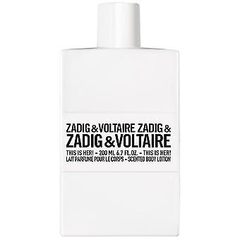 Zadig&Voltaire, esta é ela! Loção corporal perfumada 250 ml