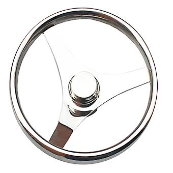 الفولاذ المقاوم للصدأ البحرية عجلة القيادة اليخت 15.5 & quot;