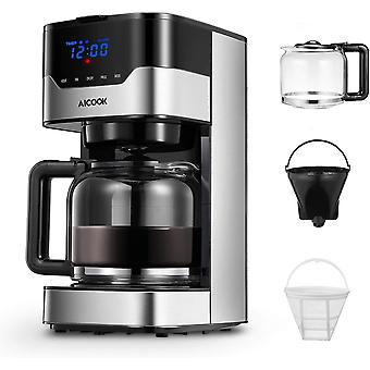 Coffee Maker, Filter Coffee Machine, Gerui 12 Cup Programmable Coffee Maker with Timer, Carafe,