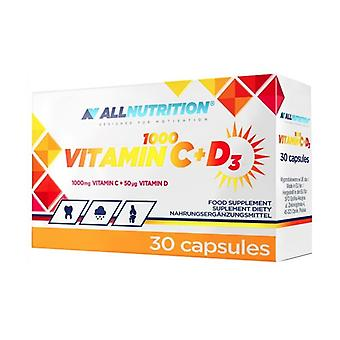 Vitamin C 1000 + D3 30 capsules