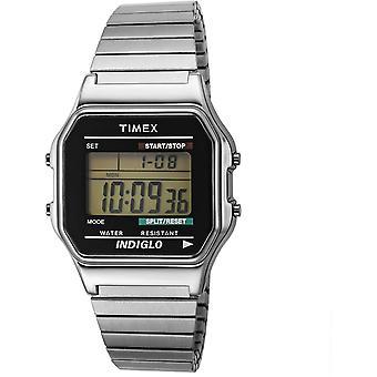 Timex T78587 Mens Style Klocka Silver