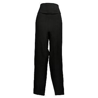 النساء مع السيطرة السراويل طويل القامة الساق سليم أسود A391213