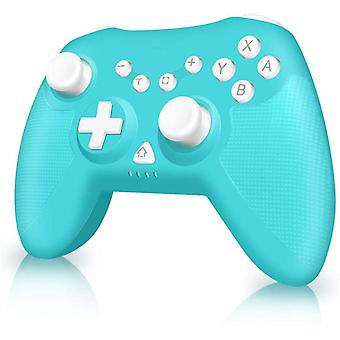 Controller Switch 6-Axis Sensor DualShock Turbo Wireless Bluetooth Non-slip Wireless Switch Controller Joystick for Nintendo Switch PC PS3(Blue)