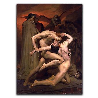 Dante ja virgil helvetin kankaalla