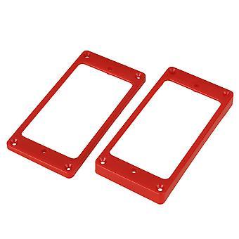 2 x Red Arc-shaped Guitar Humbucker Pickup Frame Placa de Montagem anéis de montagem