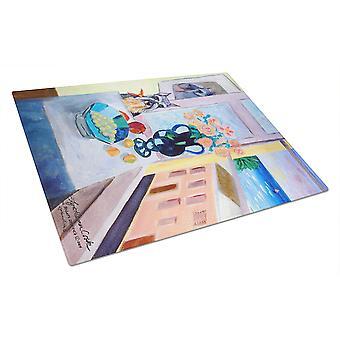 Caroline's Treasures 7255LCB Schnauzer Glass Cutting Board, Grande, Multicolor