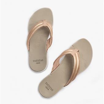 Earth Spirit Glen Ladies Toe Post Sandals Rose Gold