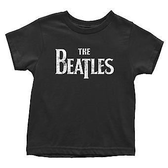 The Beatles Toddler T Shirt Drop T Logo new Official Black 12 months to 5 yrs