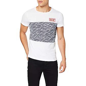 TOM TAILOR Denim Print T-Shirt, White (White 20000), X-Large Men