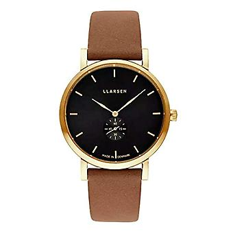 LLARSEN Analogueic Watch Quartz Woman with Leather Strap 144GBG3-GCAMEL18