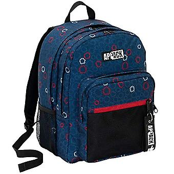 Double Compartment Backpack Appack I Like, 34 Lt, Blue, School & Leisure