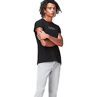 Amazon brand - find. Men's Print T-Shirt, Black (Charcoal), M, Label: M