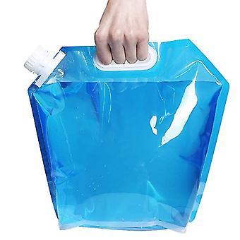 Saco de água dobrável ao ar livre 10L, saco portátil de armazenamento de água de camping