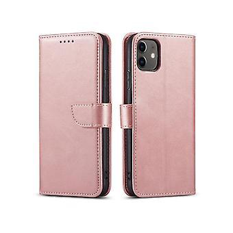Flip Folio Ledertasche für Samsung a21s rosa pns-1014
