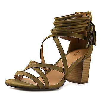 XOXO Womens Elle stof Open teen Casual Strappy sandalen
