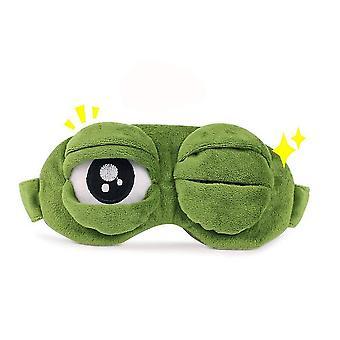 Triste rana 3d sueño máscara de ojos acolchada sombra cubierta dormir descanso divertido vendar los ojos cai712