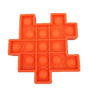 1Pcs البرتقال 6pcs كرة السيليكون للأطفال لعب لعبة نمط مكعب روبيك حزمة تخفيف التوتر مع اللعب اليد تململ az21906