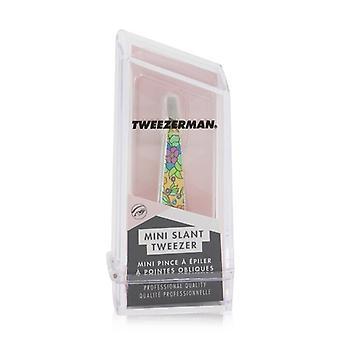 Tweezerman Mini Slant pinsetti (Vintage Kukka Tulosta) - Keltainen (Studio Collection)