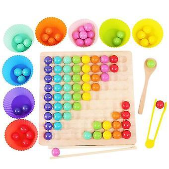 Pentru jocuri din lemn Du-te Set Dots Shuttle Margele Board Games Jucărie pentru copii, Funny Go Board Puzzle Board Jocuri WS16880