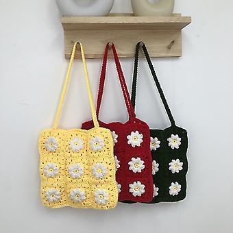 Daisy Hand-woven Women Shoulder Bag Handmade Crochet Knitted Women Handbag