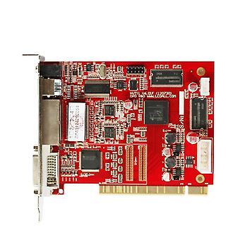 Cartão de controle de exibição de led ao ar livre, tela de cores completas