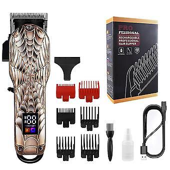 Clipper per capelli elettrici ricaricabili USB per la casa con display digitale LCD (Spiderman)