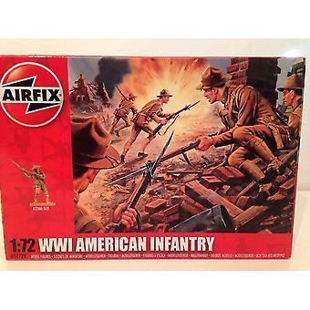 Airfix A01729 Американская пехота Первой мировой войны 48 неокрашенных частей